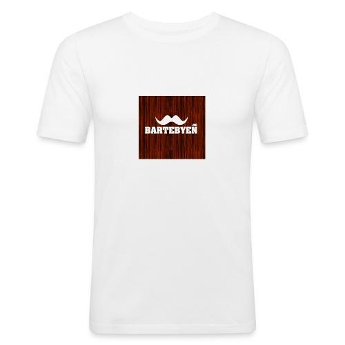 logo bartebyen buttons - Slim Fit T-skjorte for menn