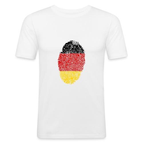 GERMANY FINGERPRINT - Men's Slim Fit T-Shirt