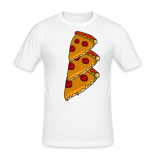 pizza - Herre Slim Fit T-Shirt