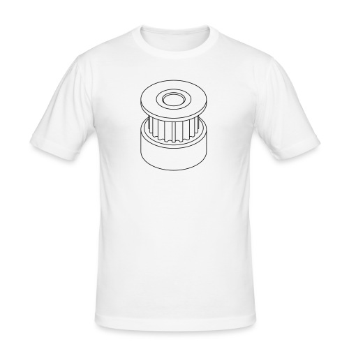 20T GT2 Pulley (no text). - Men's Slim Fit T-Shirt