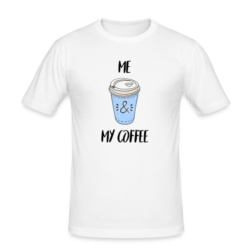 Me and my coffeee - Männer Slim Fit T-Shirt