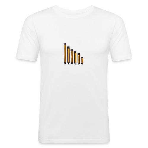 pencil evolution - Men's Slim Fit T-Shirt