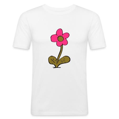 flowershirt-ai - Mannen slim fit T-shirt