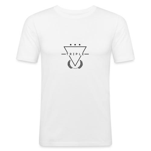 NEW TRIPLE LOGO Design 1 - Men's Slim Fit T-Shirt