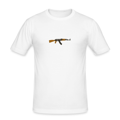fire-cartoon-gun-bullet-arms-weapon-drawings-png - slim fit T-shirt