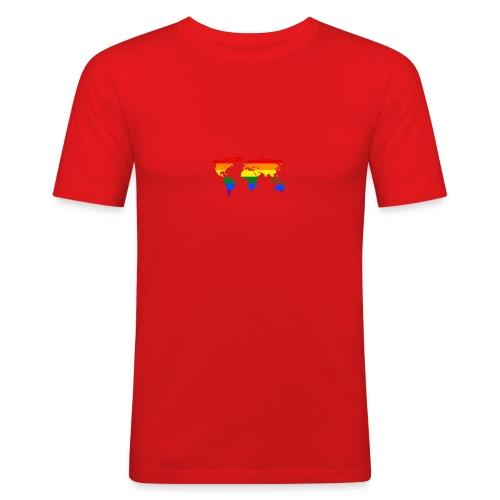 HBTQ WORLD - Slim Fit T-shirt herr