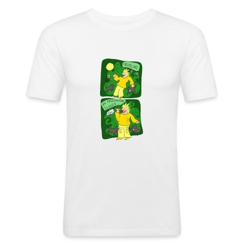 Katzenhaare - Männer Slim Fit T-Shirt