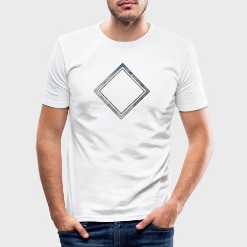 Cloud Square - Männer Slim Fit T-Shirt