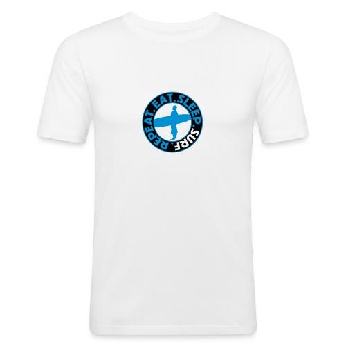 Eat. Sleep. Surf. Repeat. - Männer Slim Fit T-Shirt