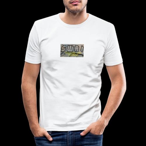 swai stoned boxlogo - Männer Slim Fit T-Shirt