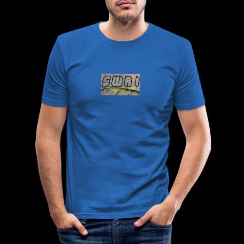 swai stoned boxlogo - Männer Slim Fit T-Shirt