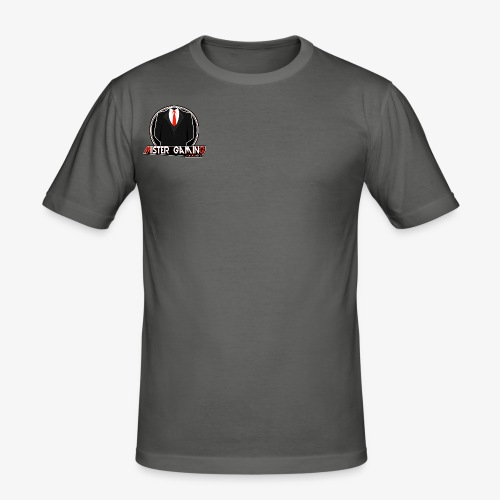 Mister Gaming Logo - Männer Slim Fit T-Shirt