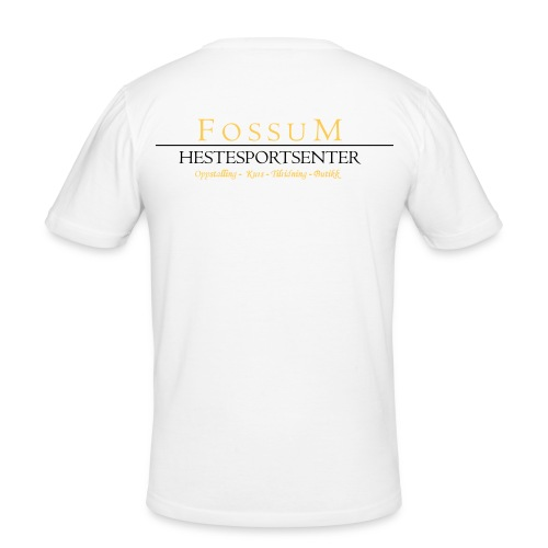 Fossum Logo 2f - Slim Fit T-skjorte for menn