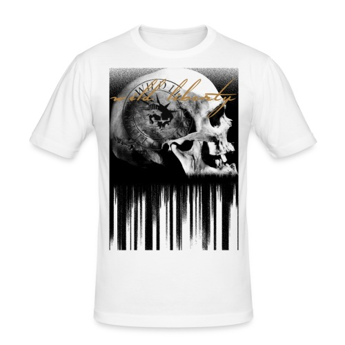 wild liberty schrifft - Männer Slim Fit T-Shirt