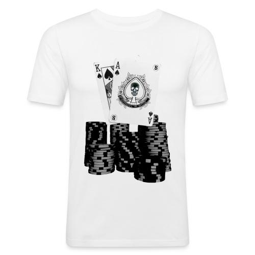 Pokerchips - Männer Slim Fit T-Shirt