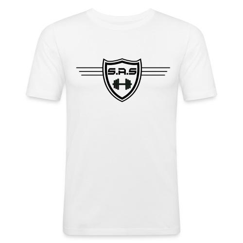 shielded1 png - Mannen slim fit T-shirt