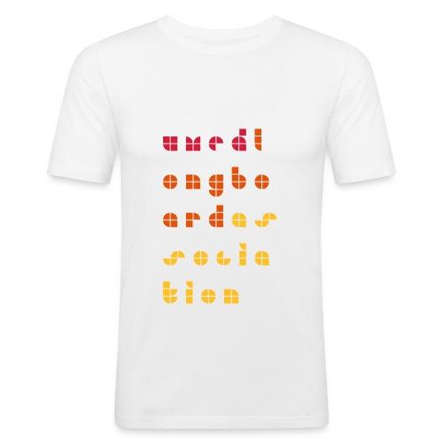 ULAtext - Slim Fit T-shirt herr