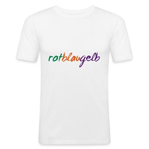 rotblaugelb - Männer Slim Fit T-Shirt