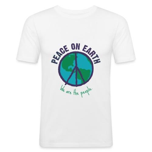 peace-purple.png - Männer Slim Fit T-Shirt