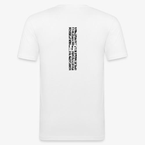 LF camo stripes - Slim Fit T-shirt herr