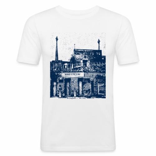 lowfieldsblue002 - Men's Slim Fit T-Shirt