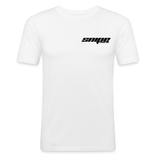 T-Shirt schwarz vorne - Männer Slim Fit T-Shirt