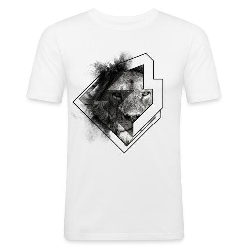 king-lion-brawl - Mannen slim fit T-shirt