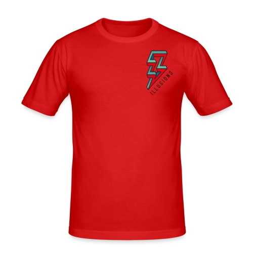 ♂ Lightning - Männer Slim Fit T-Shirt