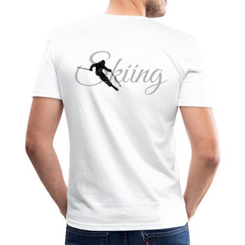 Skiing Skifahrer (Grau) Wintersport Apres-Ski - Männer Slim Fit T-Shirt