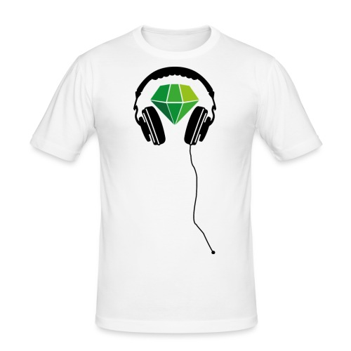 Gruenschwarz Kopfhörer XXL png - Männer Slim Fit T-Shirt