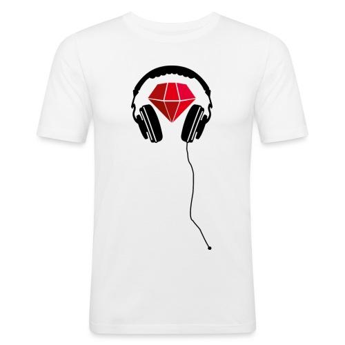 Rot - Detroyt Logo - Männer Slim Fit T-Shirt
