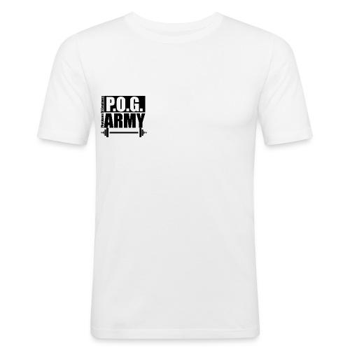 POG Army Black - Men's Slim Fit T-Shirt