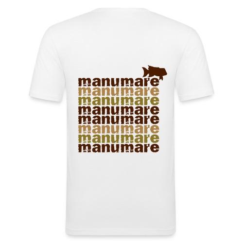 8x_manumare_mit_fisch_mokka - Männer Slim Fit T-Shirt