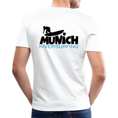 Munich Riversurfing München Surfer - Männer Slim Fit T-Shirt