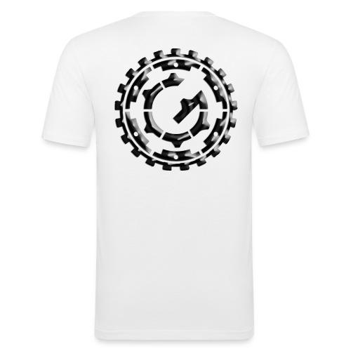 Steffen G. logo Granit - Männer Slim Fit T-Shirt