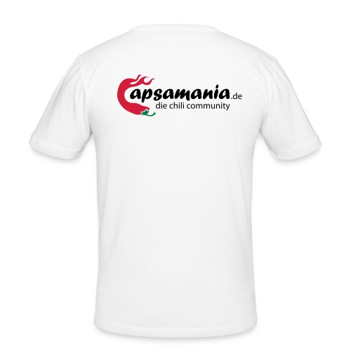 capsamania logo cmyk - Männer Slim Fit T-Shirt