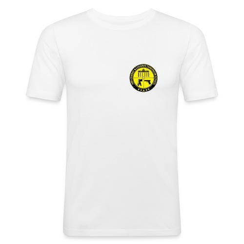 HRP Combat School Logo - Männer Slim Fit T-Shirt