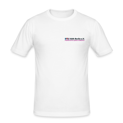 Logo Flach - Männer Slim Fit T-Shirt