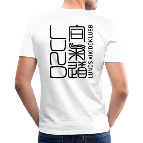 Lunds Aikidoklubb black - Slim Fit T-shirt herr