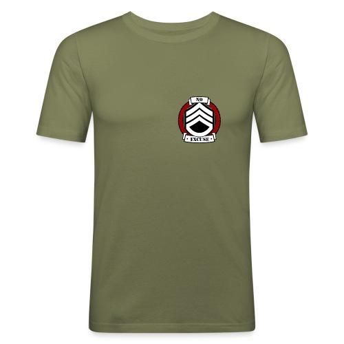 no excuse logo png - T-shirt près du corps Homme