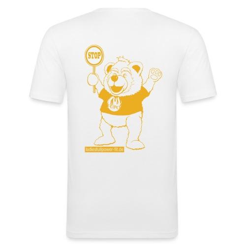 FUPO der Bär. Druckfarbe Orange - Männer Slim Fit T-Shirt