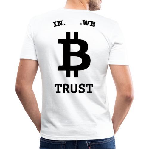BITCOIN langwerpig - Mannen slim fit T-shirt