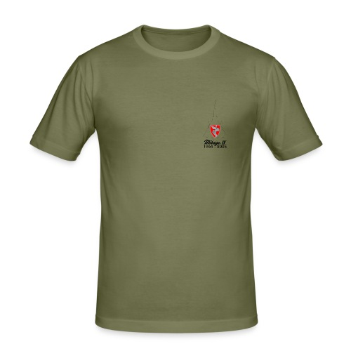 t shirt face - T-shirt près du corps Homme