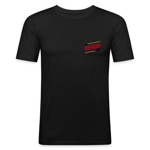 baron logo ai klein kleur - Mannen slim fit T-shirt