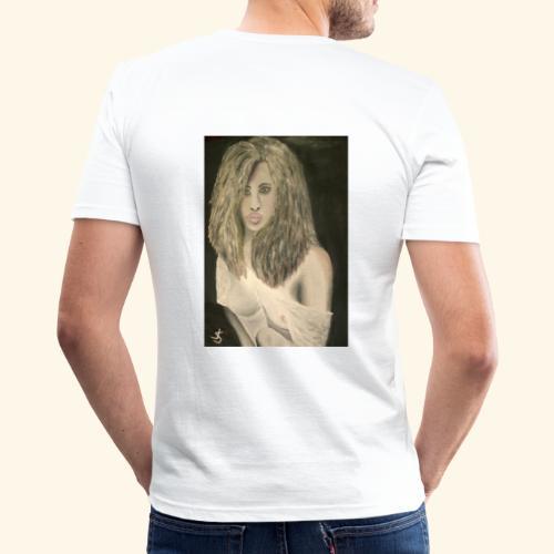 Einsame Schönheit - Männer Slim Fit T-Shirt