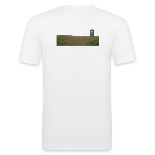 tardis landscape - Männer Slim Fit T-Shirt