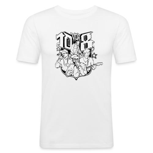 10vor8Logo png - Männer Slim Fit T-Shirt