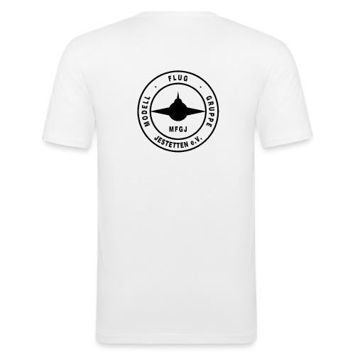Logo Schrift schwarz - Männer Slim Fit T-Shirt