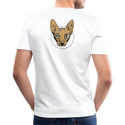 sphynx white bg - Slim Fit T-shirt herr