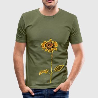 Riesen Sonnenblume - Männer Slim Fit T-Shirt